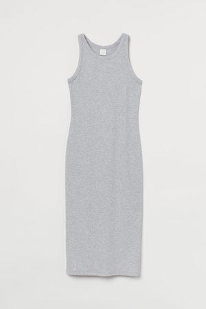 H&M Dames Midi jurken - Jurk van ribtricot