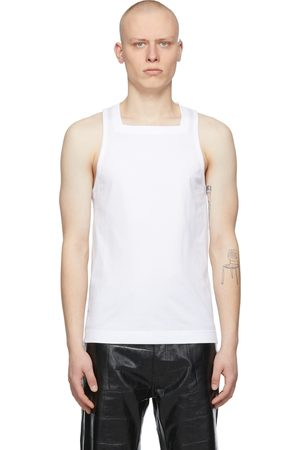 Givenchy Heren Tops - White Square Tank Top
