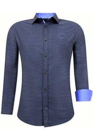 TONY BACKER Heren Overhemden - Met print slim fit