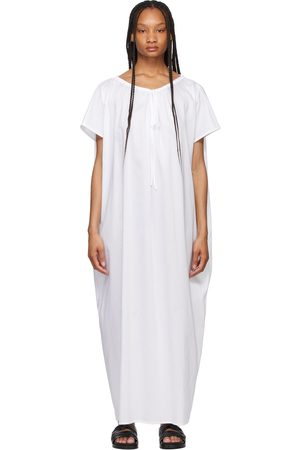 Totême White Draped Beach Tunic Dress