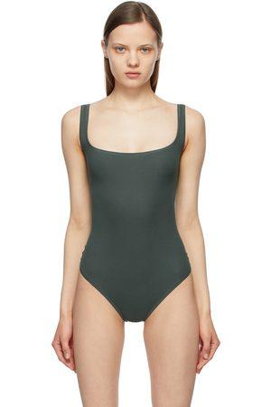 SKIMS Dames Bodysuits - Grey Cotton Rib Bodysuit