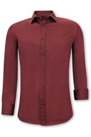Tony Backer Heren Overhemden - Satijn slim fit