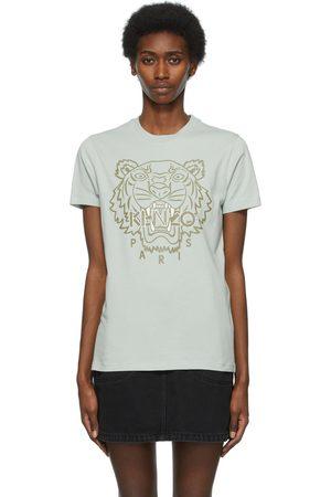 Kenzo Green & White Loose Printed Tiger T-Shirt