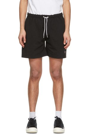 Noah NYC Black Winged Foot Rugby Shorts