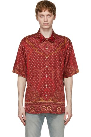 Etro Red Printed Short Sleeve Shirt