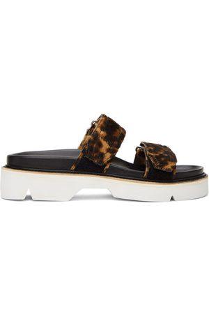 DRIES VAN NOTEN Brown & Black Calf-Hair Cheetah Sandals