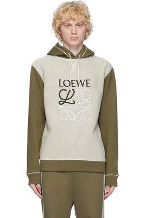 Loewe Khaki & Off-White Anagram Hoodie