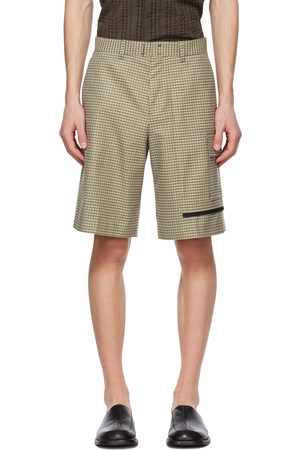 Andersson Bell Green & Beige Checked Shorts