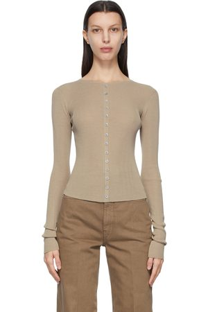 LEMAIRE Taupe Second Skin Cardigan