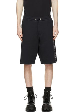 Moncler Navy Tricolor Terry Shorts
