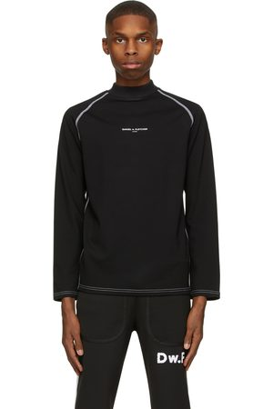 Daniel W. Fletcher Black Jersey Logo Turtleneck