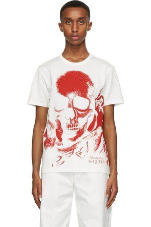 Alexander McQueen White & Red Skull Print T-Shirt