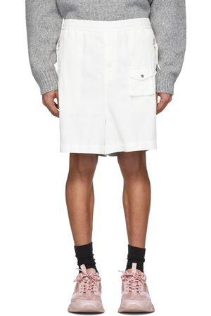 Moncler Genius 2 Moncler 1952 White & Silver Over-The-Knee Bermuda Shorts