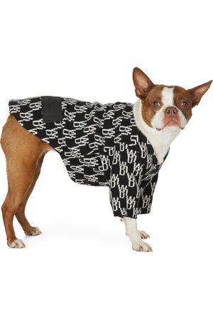 We11 Done SSENSE Exclusive Black & White Jacquard WD1 Logo Cardigan