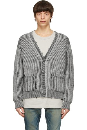 JOHN ELLIOTT Grey Merino Wool Structure Cardigan