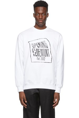 Opening Ceremony White Warped Logo Sweatshirt