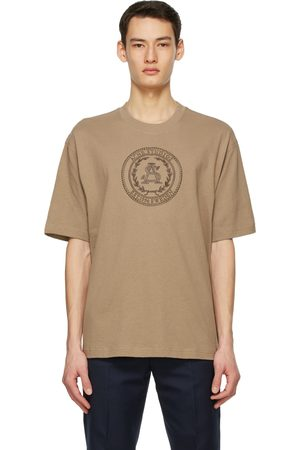 Acne Studios Brown Embroidered T-Shirt