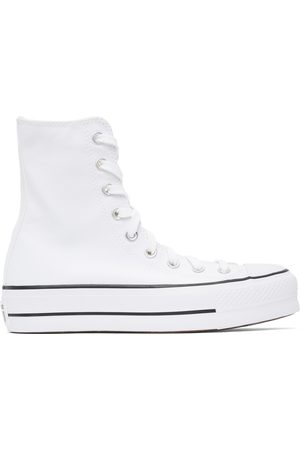 Converse White Platform Chuck Taylor All Star High Sneakers