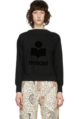Isabel Marant Black Mock Neck Kilsen Sweatshirt