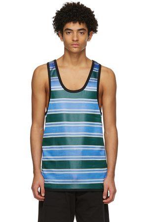 Marni Blue & Green Striped Tank Top