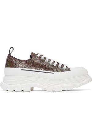 Alexander McQueen Purple Iridescent Platform Sneakers