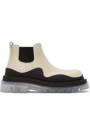 Bottega Veneta Off-White Low 'The Tire' Chelsea Boots