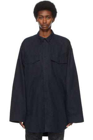 Balenciaga Navy Oversized Shirt