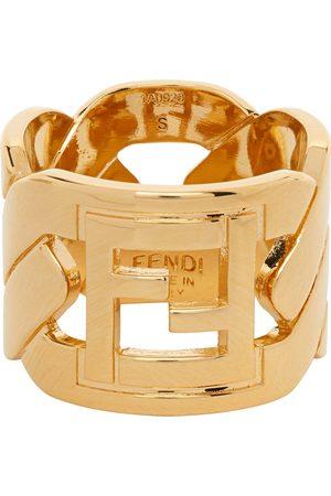 Fendi Gold 'Forever ' Chain Ring