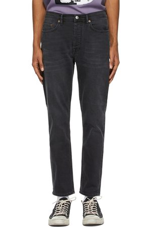 Acne Studios Black Faded Slim Tapered Jeans