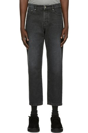 Ami Black Tapered Fit Jeans