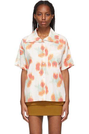 Kenzo Off-White Boxy Coquelicot Short Sleeve Shirt