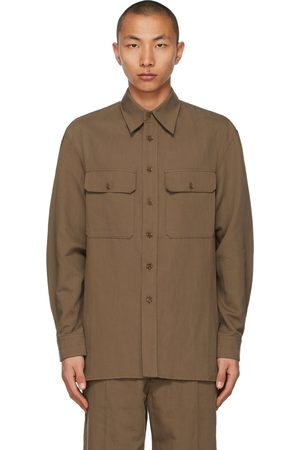 LEMAIRE Brown Officer Shirt