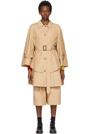 Moncler Genius 1 Moncler JW Anderson Khaki Military A-Line Dungeness Trench Jacket