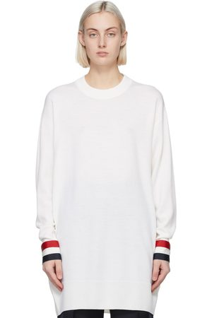 Thom Browne White Merino Oversized Fit Sweater