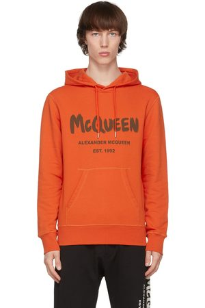 Alexander McQueen Orange Graffiti Hoodie