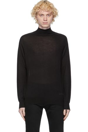 Givenchy Heren Coltruien - Black Wool & Silk Turtleneck