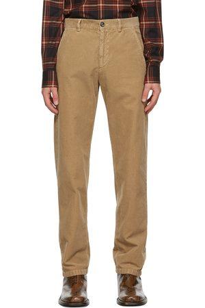 DRIES VAN NOTEN Brown Corduroy Trousers