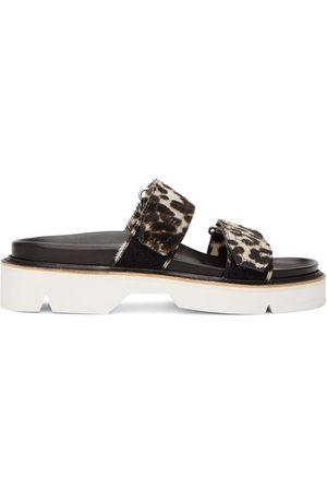 DRIES VAN NOTEN Heren Outdoor Sandalen - Grey & Black Cheetah Print Sandals