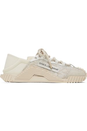 Dolce & Gabbana White Lace & Leather NS1 Sneakers