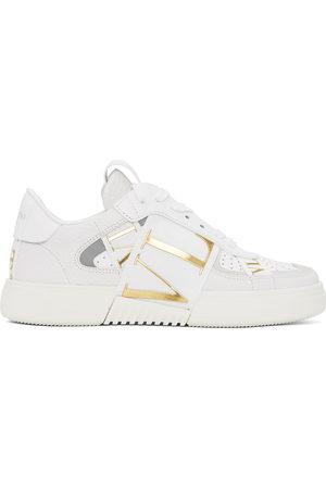 VALENTINO GARAVANI White & Gold 'VL7N' Sneakers