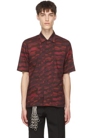 DRIES VAN NOTEN Burgundy Len Lye Edition Camillo Short Sleeve Shirt