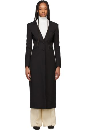 Totême Black Constructed Blazer Coat