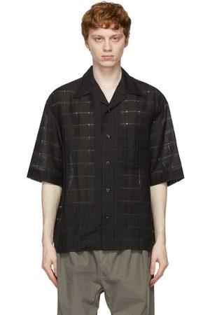 LEMAIRE SSENSE Exclusive Black Woven Short Sleeve Shirt