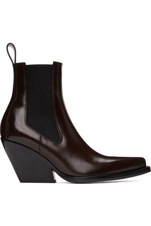 Bottega Veneta Dames Enkellaarzen - Brown Heeled Chelsea Boots