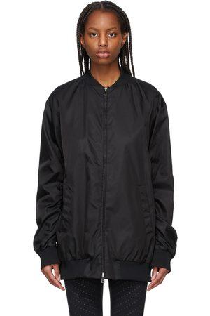 Moncler Black Long Aldebaran Bomber Coat
