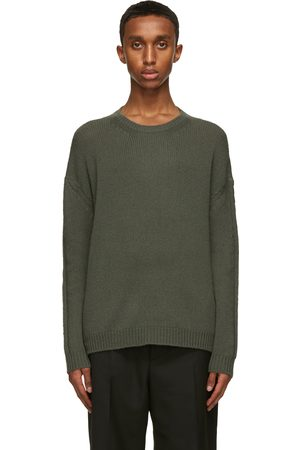 VALENTINO Heren Sweaters - Green Cashmere Sweater