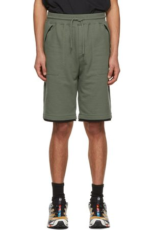 C.P. Company Green Fleece Diagonal Raised Shorts