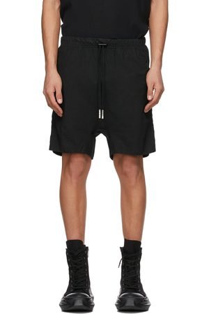 11 BY BORIS BIDJAN SABERI Black Double Object-Dyed Shorts