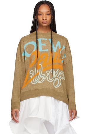 Loewe Khaki Paula's Ibiza Jacquard Sweater