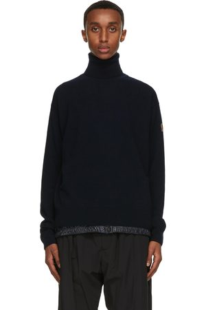 Moncler Navy Ciclista Turtleneck